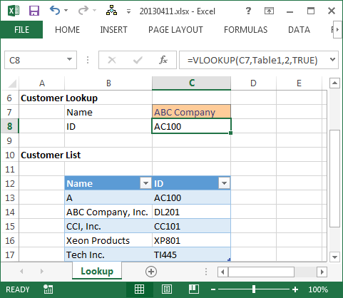 VLOOKUP No Match