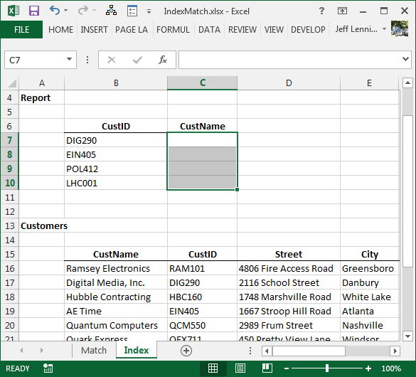 How To Return A Value Left Of Vlookup's Lookup Column Excel University. Worksheet. Worksheetfunction Vlookup Not Found At Clickcart.co