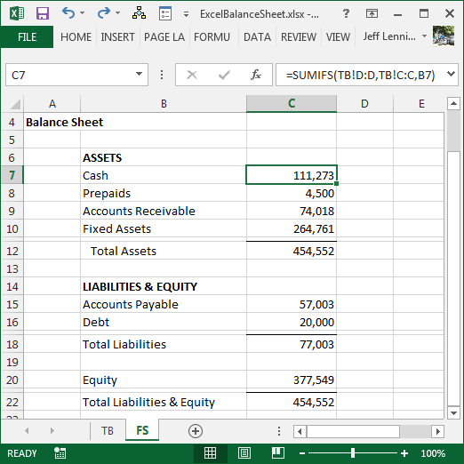 High Quality Excel Balance Sheet  How To Prepare A Balance Sheet