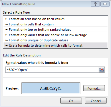 Excel Conditional Formatting Based on Another Cell | Excel