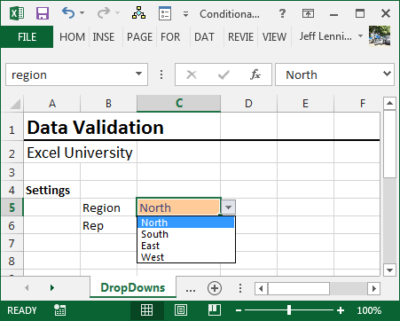 Create Dependent Drop-down Lists with Conditional Data Validation