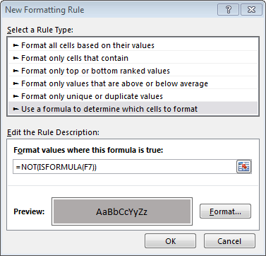 Conditional formatting by Jeff Lenning