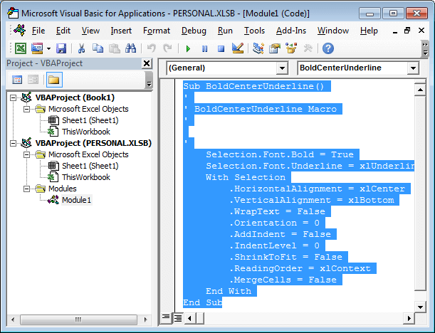 Visual Basic Editor by Jeff Lenning