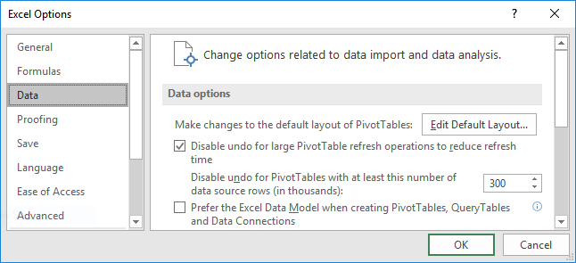 Set Default PivotTable Layout Options | Excel University