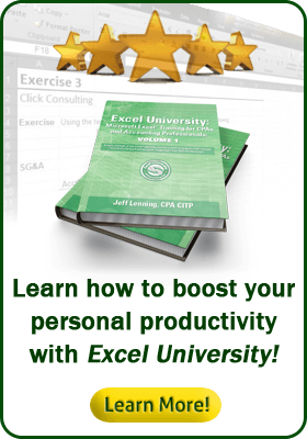 Learn how to boost your personal productivity with Excel University