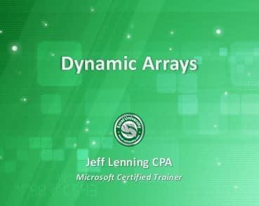 Excel Dynamic Array Title Slide