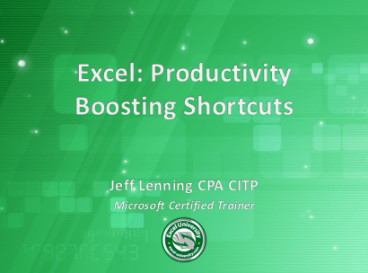 Excel slide cover by Jeff Lenning