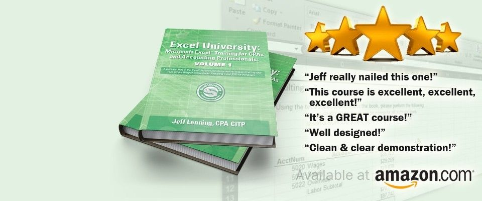 Ediblewildsus  Surprising Excel University  Microsoft Excel Training For Cpas And  With Magnificent Excel University  Microsoft Excel Training For Cpas And Accounting Professionals With Archaic How To Create A Barcode In Excel Also Excel Vba Save As Csv In Addition Learning To Use Excel And Excel Checkbook Template As Well As Office Excel Free Additionally Excel Data Table Example From Exceluniversitycom With Ediblewildsus  Magnificent Excel University  Microsoft Excel Training For Cpas And  With Archaic Excel University  Microsoft Excel Training For Cpas And Accounting Professionals And Surprising How To Create A Barcode In Excel Also Excel Vba Save As Csv In Addition Learning To Use Excel From Exceluniversitycom